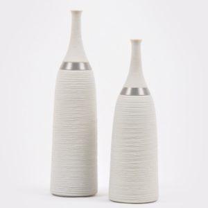 Garrafas de porcelana com fios de aço inoxidável