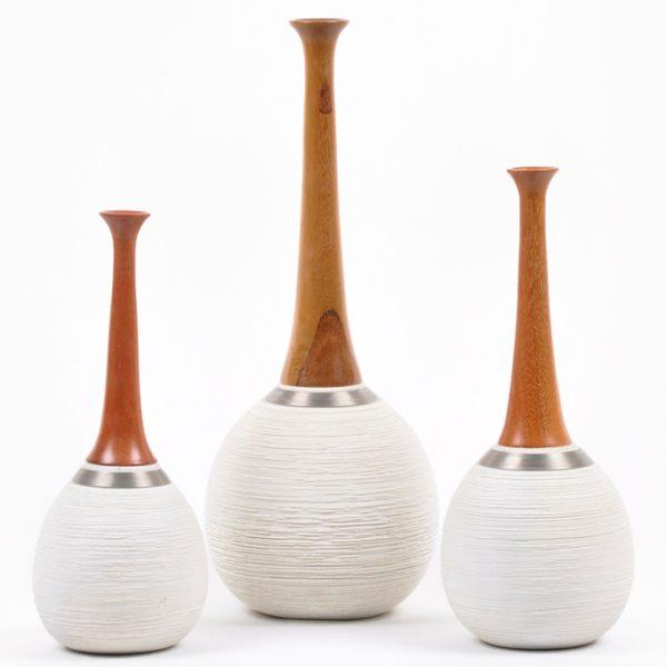 Peças especiais - Porcelana - Madeira - Fios de aço inoxidável