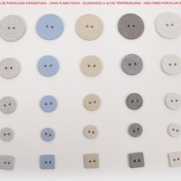 Botões artesanais de porcelana